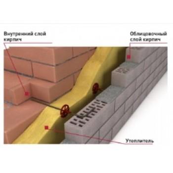 Гнутые  гибкие связи для монолитных и кирпичных стен
